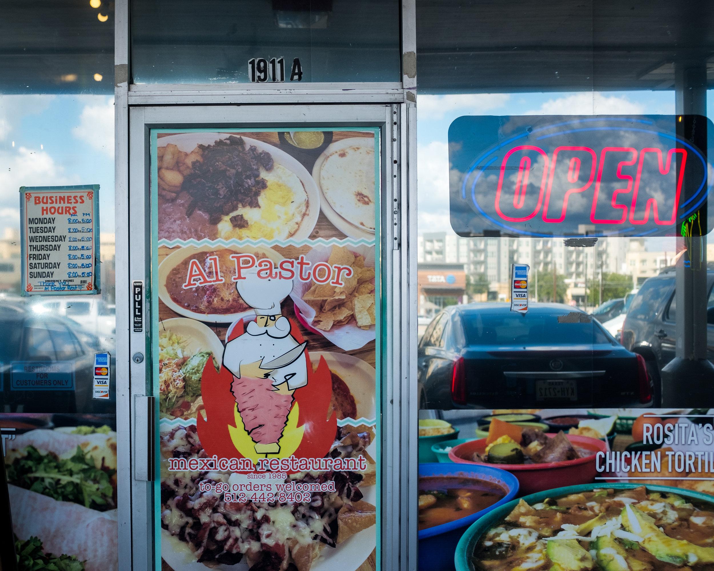 Rosita's Al Pastor storefront on East Riverside