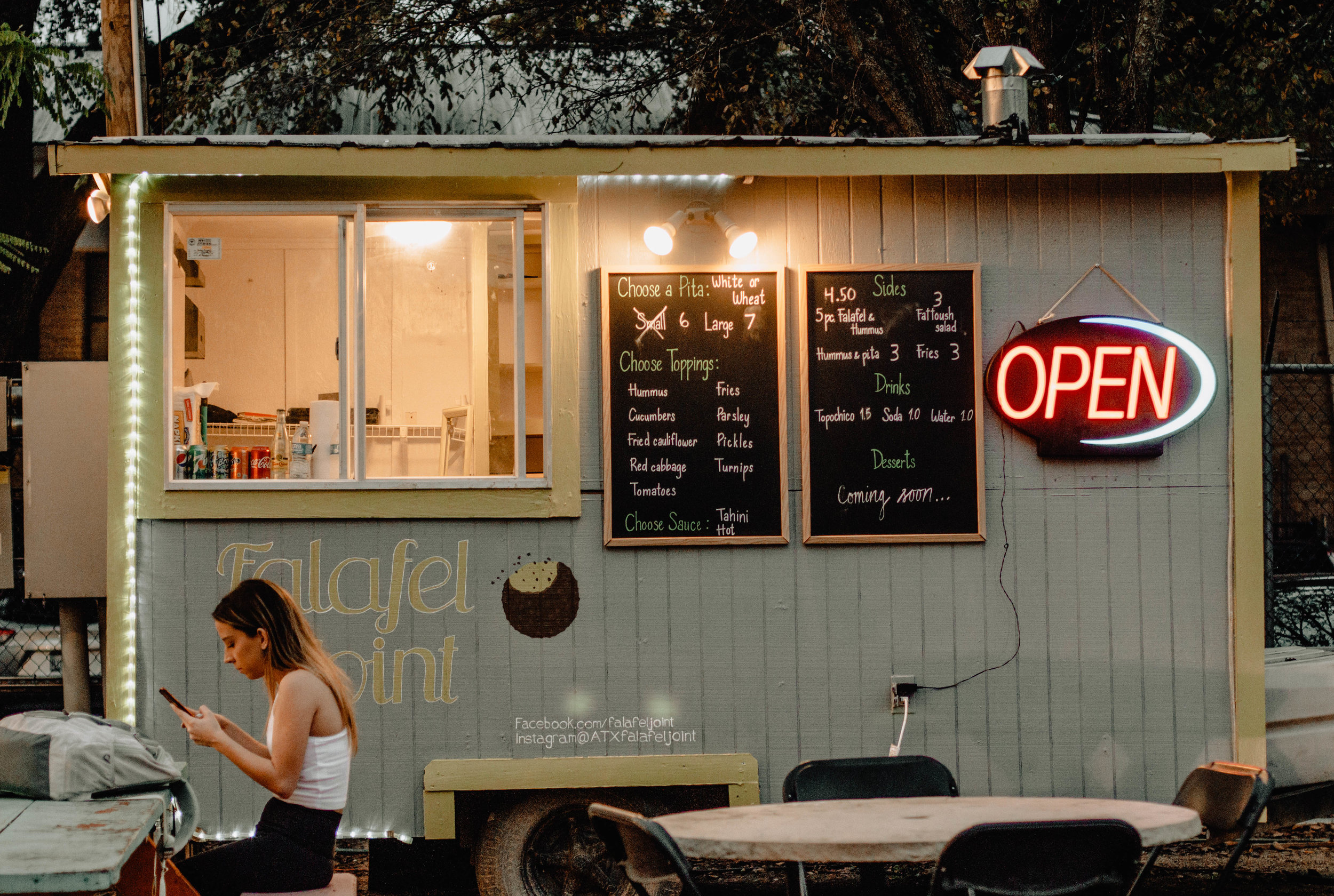 The Falafel Joint food truck is now open in West Campus.