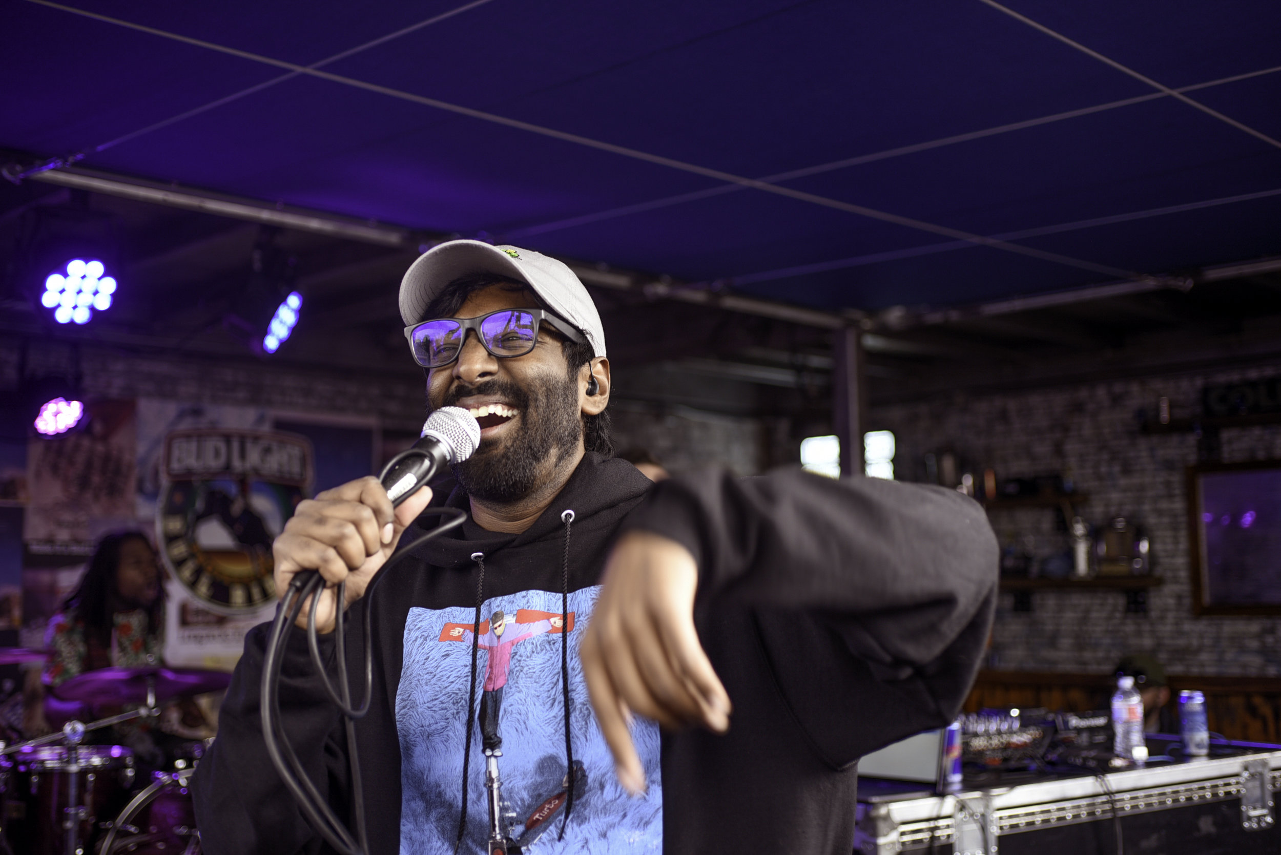 """Austin-based rapper Abhi the Nomad played the Bud Light stage on March 15. His most recent album, """"Marbled,"""" came out in 2018."""