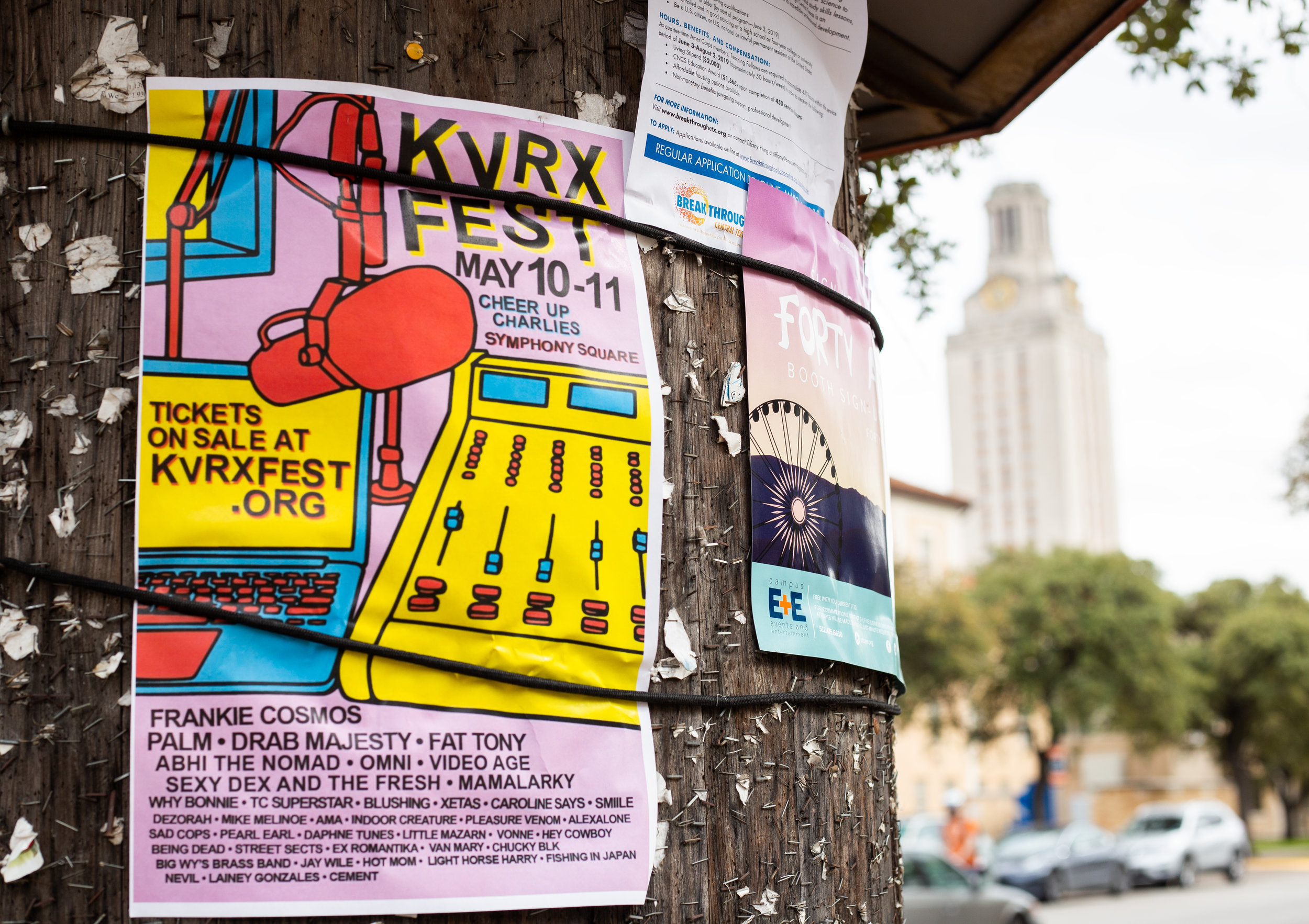 KVRX Fest will host 40 bands, including Frankie Cosmos and local group TC Superstar.