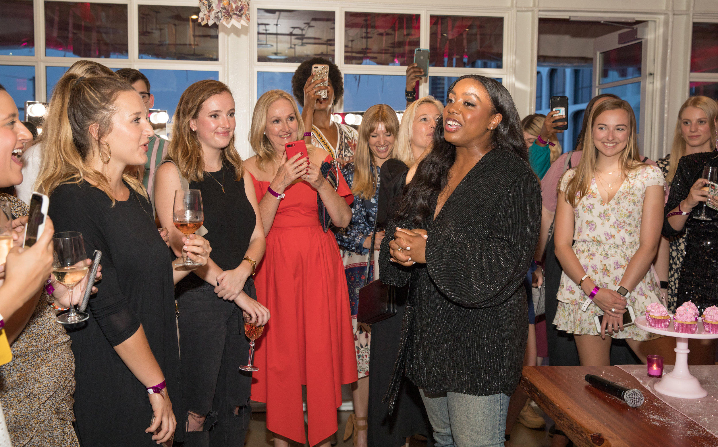 Teen Vogue  Editor-in-Chief Lindsay Peoples Wagner thanks the over 200 party guests for attending.