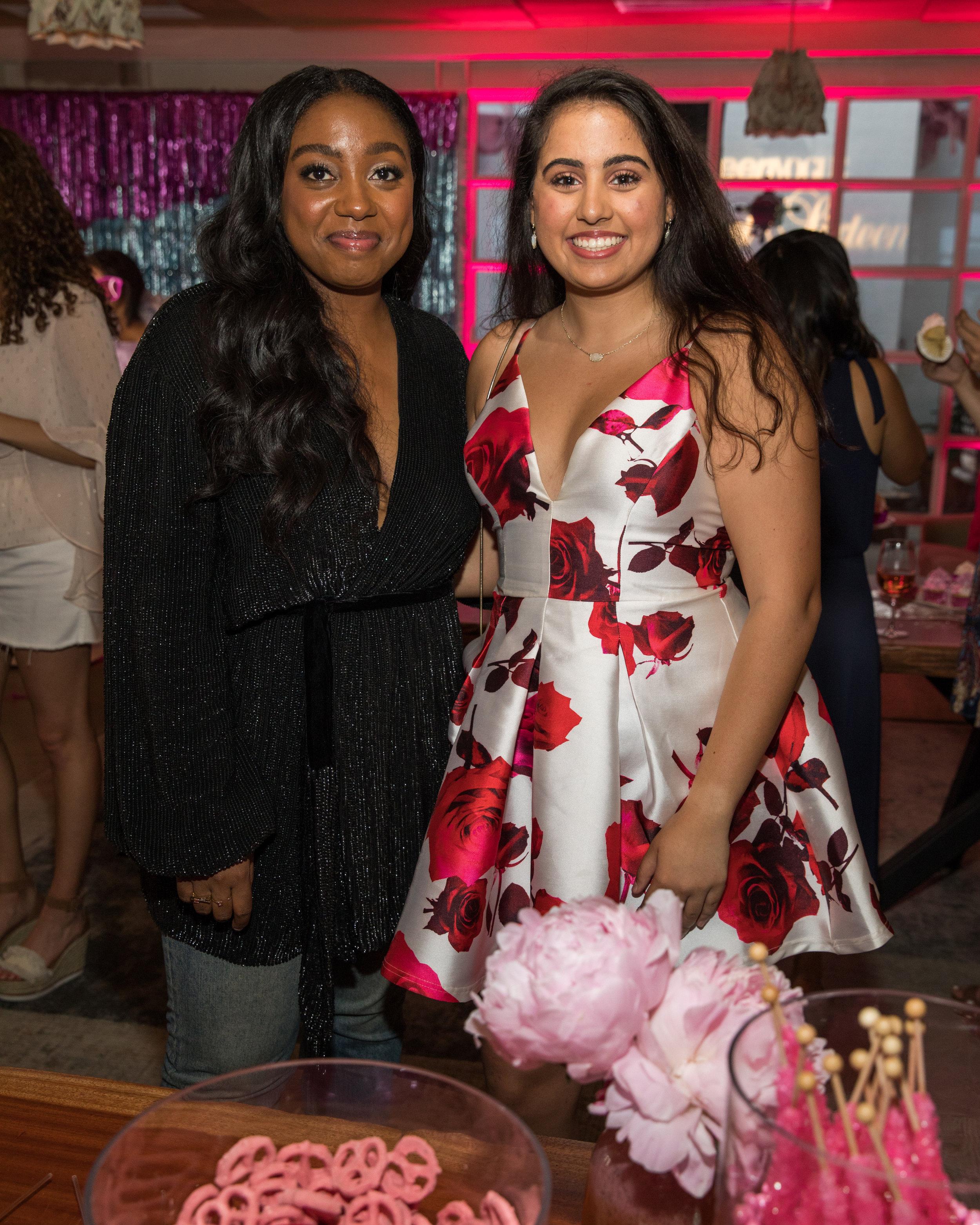 "Teen Vogue Editor-in-Chief Lindsay Peoples Wagner with 2017 Teen Vogue ""21 Under 21"" honoree Saanya Bhargava"