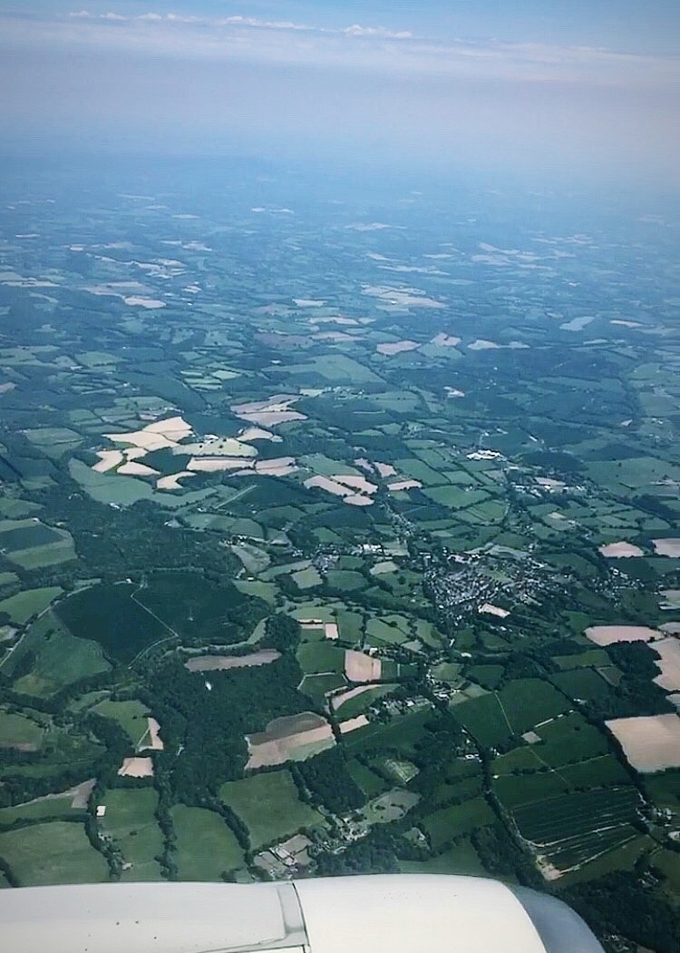 Just before landing at Gatwick Airport