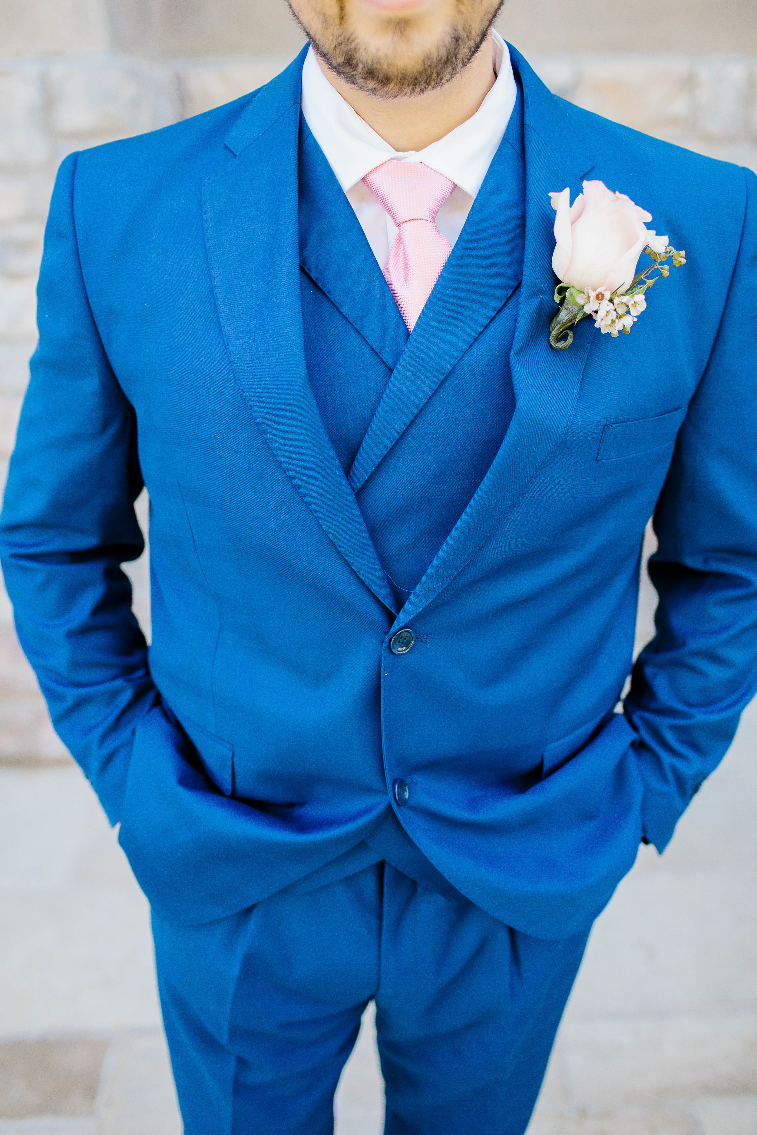 Navy Blue Suit for the Groom- Arizona Wedding Photographer