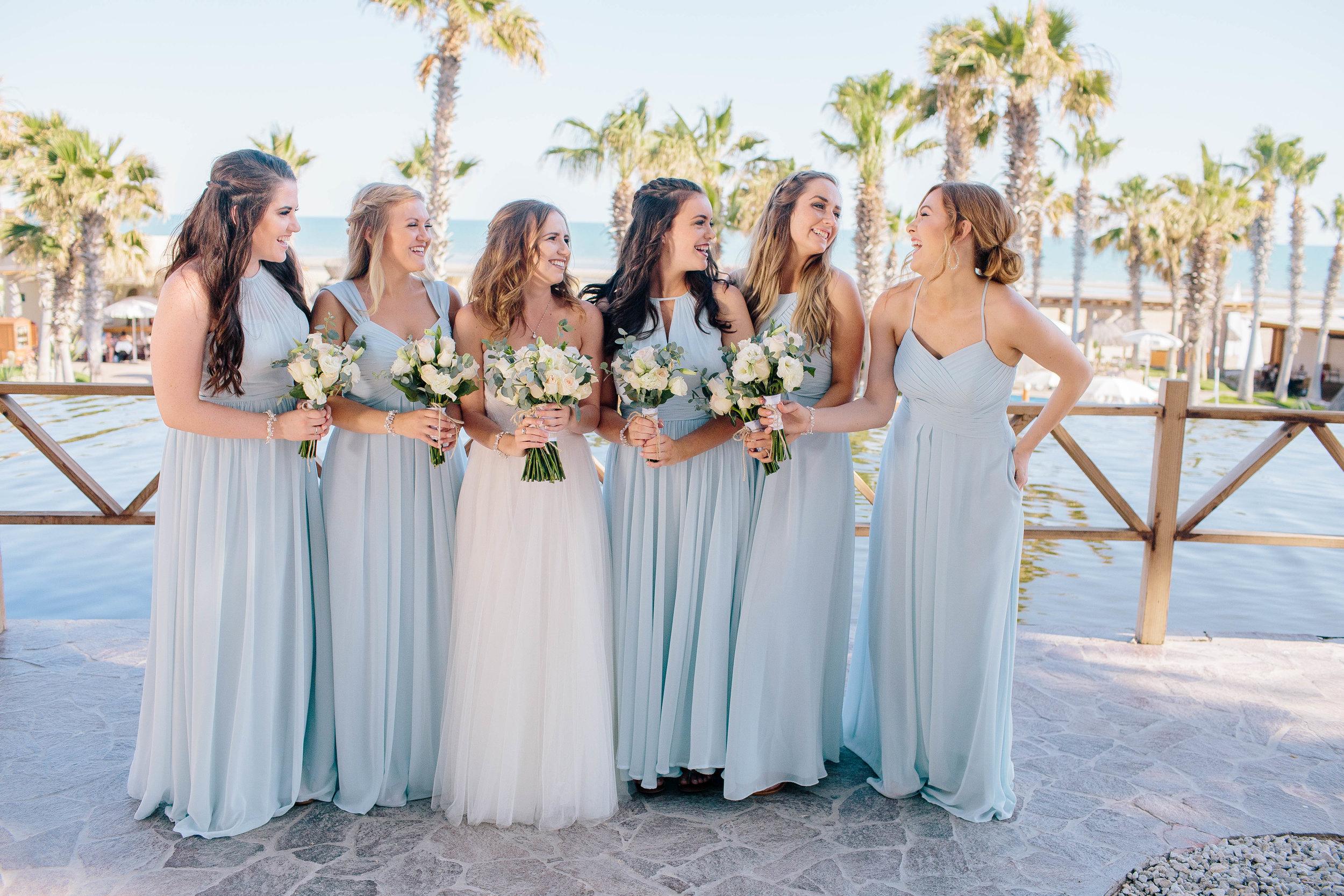 Beach Wedding Bridal Pary