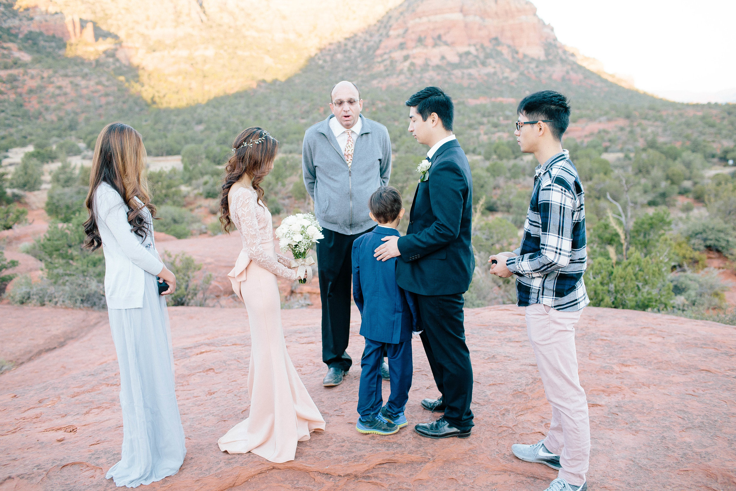 Sedona Elopement Ceremony at Bell Rock