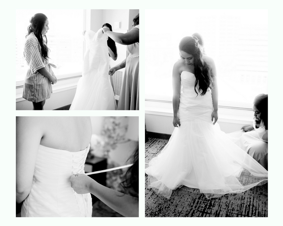 Boise Wedding Photographer- Nampa Wedding Photographer- The Grove Boise- Getting Ready Photos- Getting Ready Photo Ideas- Wedding Photo Ideas- Wedding Ideas- Dutch Bros Wedding Ideas- Putting on the dress