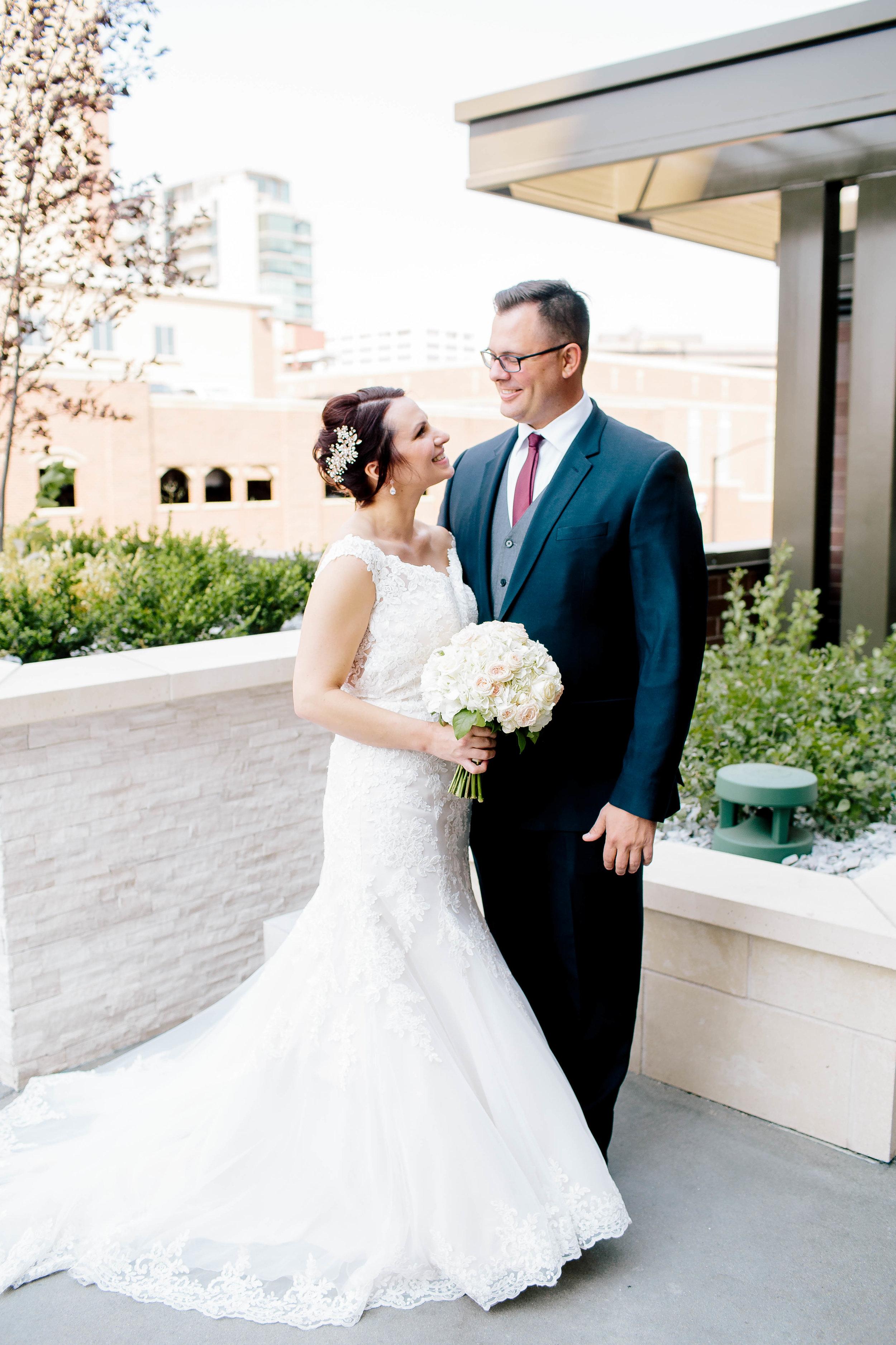 Bride and Groom- Bridals- Mermaid Wedding Gown- Fitted Wedding Gown- Barber Park Wedding- Boise Wedding- Boise Wedding Photographer- Idaho Wedding- Idaho Wedding Photographer