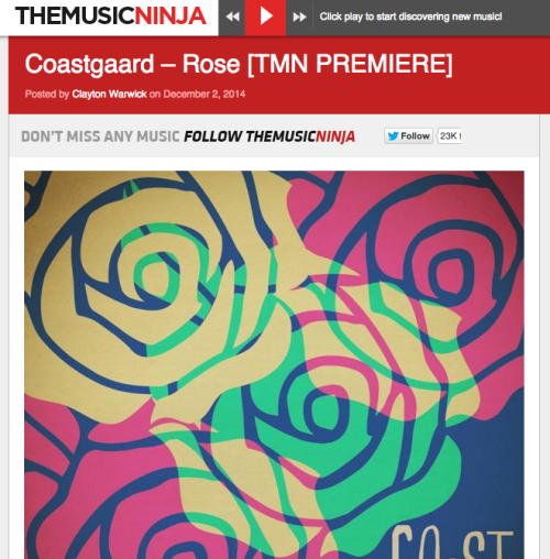 Coastgaard Premiere on The Music Ninja