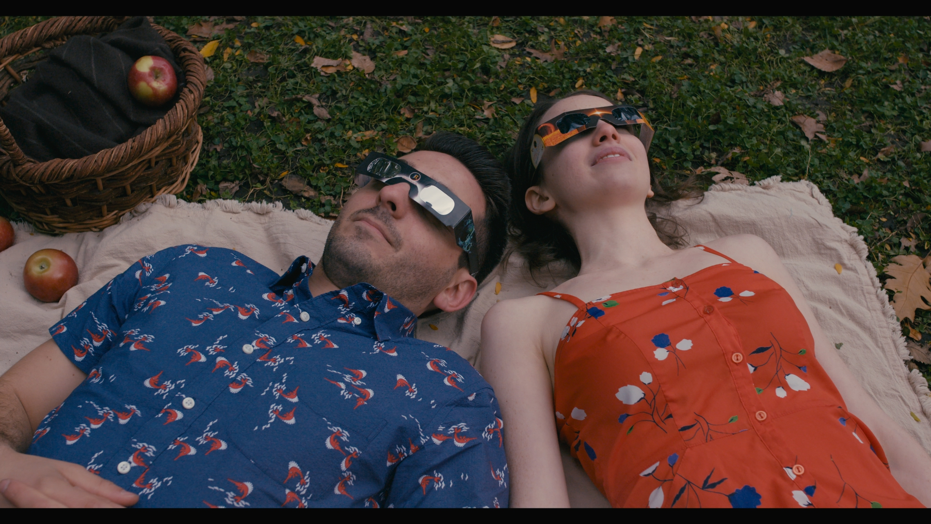 Me with co-star Jake Smith, watching this summer's eclipse!