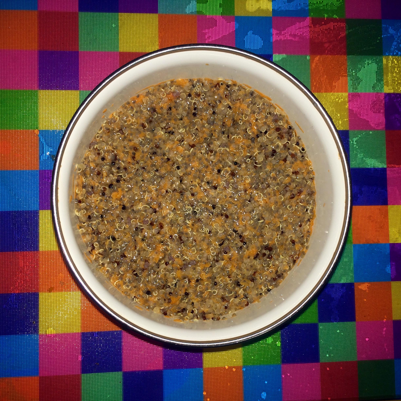 quinoa chia cold porridge