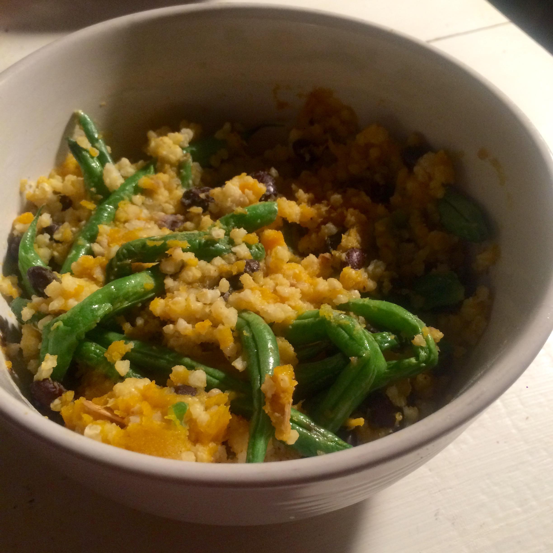 millet / black beans / roasted acorn squash / roasted green beans