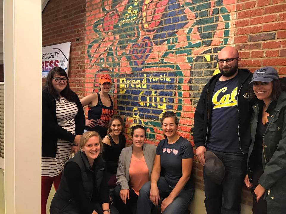 Yoga NoMa yogis at  Bread for the City  in Nov 2016