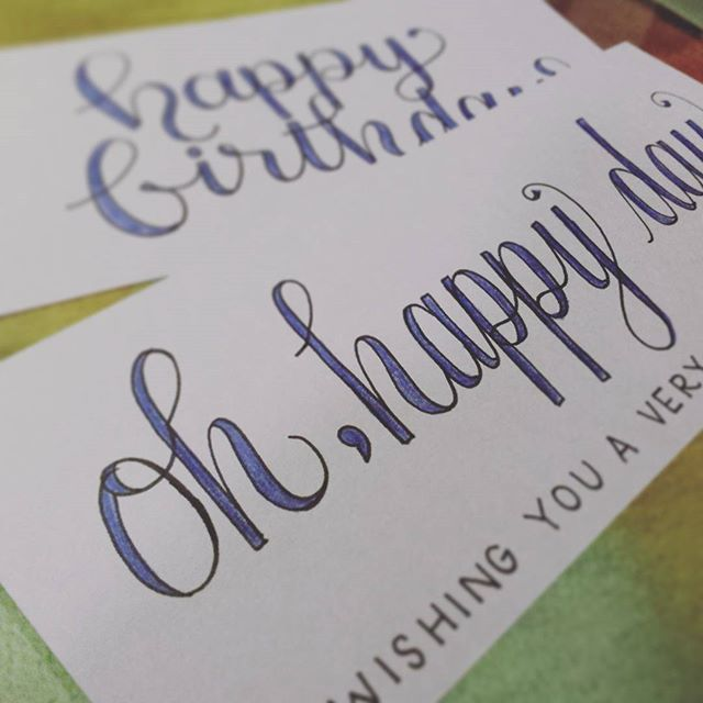 in the tiny studio: working on a #purplelicious #happybirthday card pack for a fave client who dreams in violet 💜 . . . . #type #typeface #typography #handlettering #handlettered #moderncalligraphy #design #designer #drawing #art #artist #madebyhand #madeitmyself #DIY #brooklyn #newyork #calligraphy #wedding #weddings #weddingplanning #calligritype