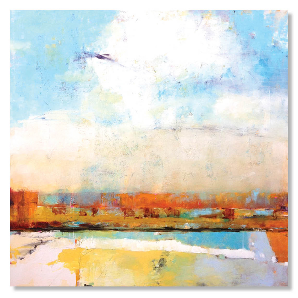 A MELLOW MORNING WALK |  SOLD   48 x 48 x 1.5  Oil on Canvas
