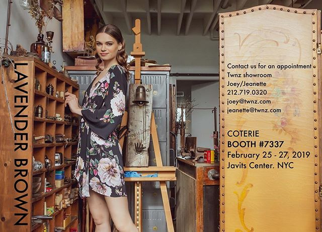 Come see us st Coterie booth 7337. Fall Lavender Brown looks Stunning!!! #coterie #lavenderbrown #fall2019