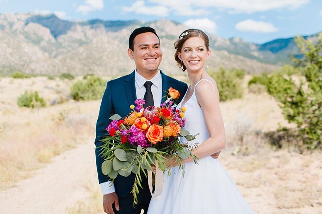 """Another shot from Saturday's wedding! The Sandia's have such beautiful foothills but to get this midday shot I used a """"Sunswatter"""" overhead. #albuquerque #wedding"""