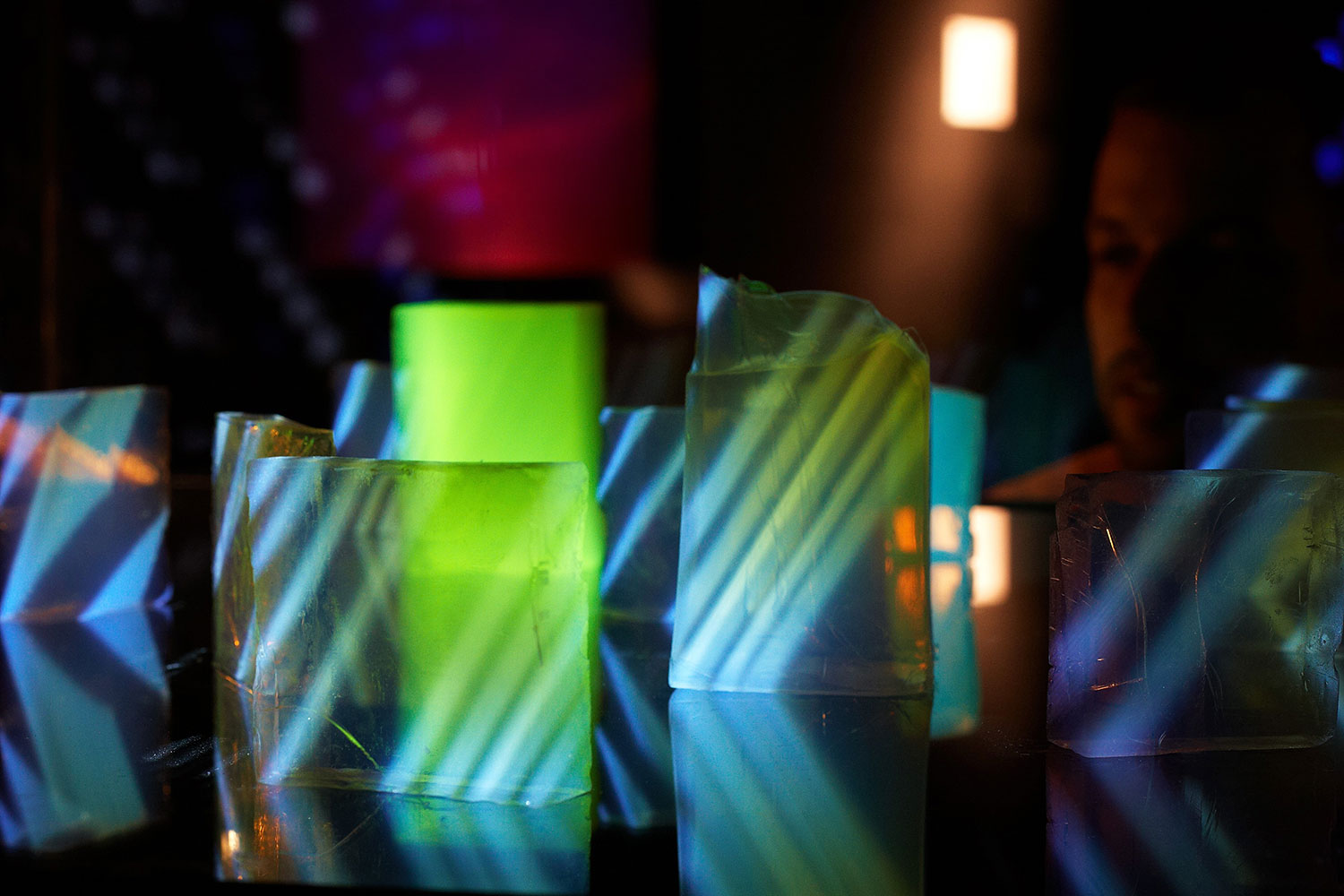 Aerogel Sculptures    Projections on 99.8% air    more