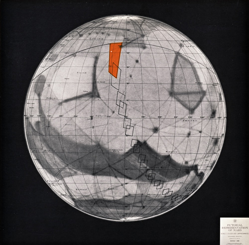 Best known map of Mars in 1964