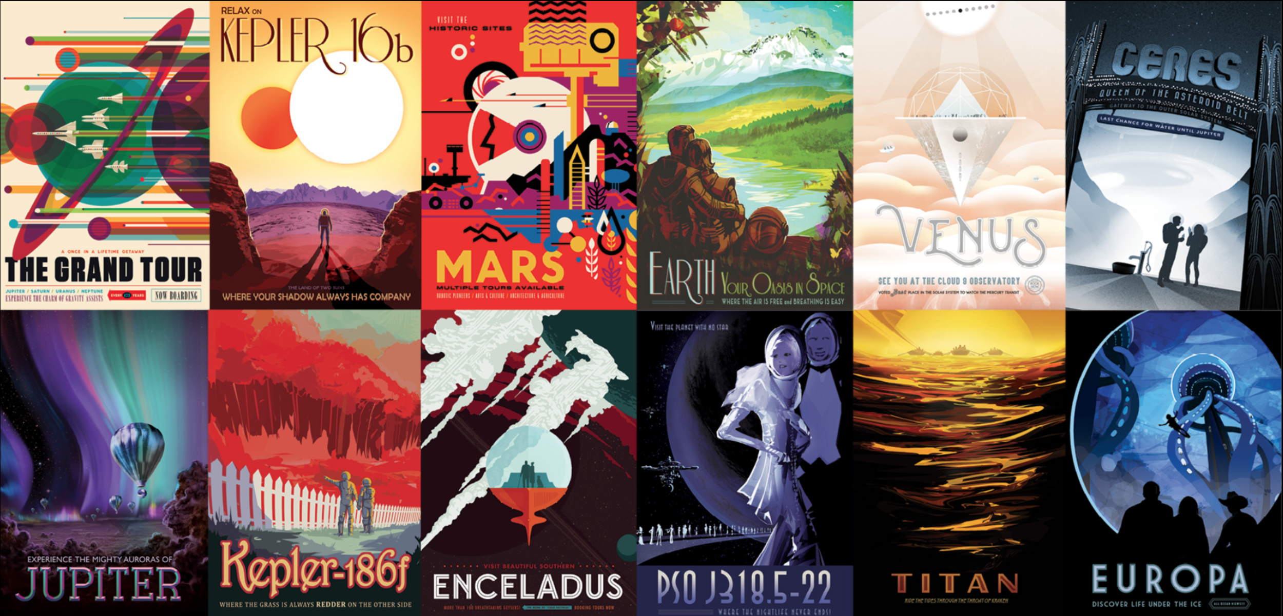 Visions of the Future    Travel posters to other worlds    more