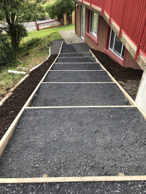New pathway along side Hakuiao. Watch this space for new garden!