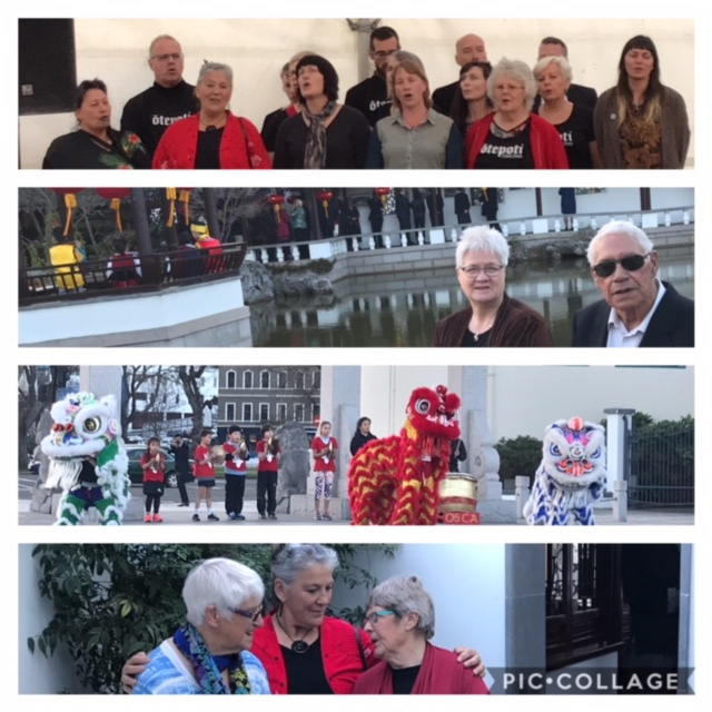 DCC Waiata group sung a beautiful waiata for the Chinese Community before gifting the song to Dr James Ng and Peter Chin. Photos of our kaumatua enjoying the festivities. Dancing Dragons by children of the Chinese community.
