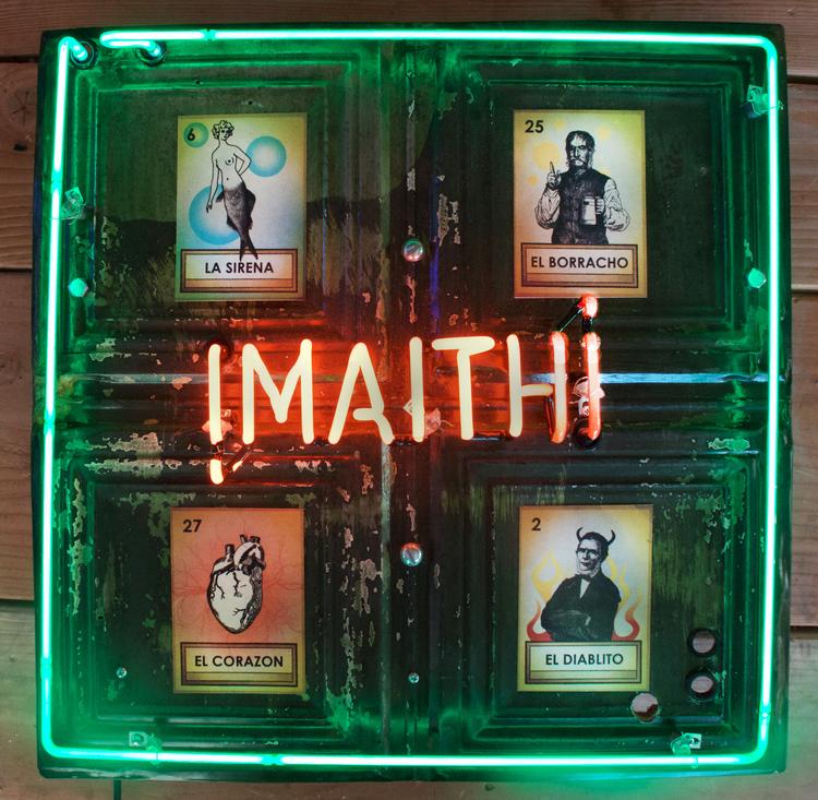 "DANIEL EVANS, ¡MAITH! , 2015, neon artwork,  21"" × 21"" x 4"""