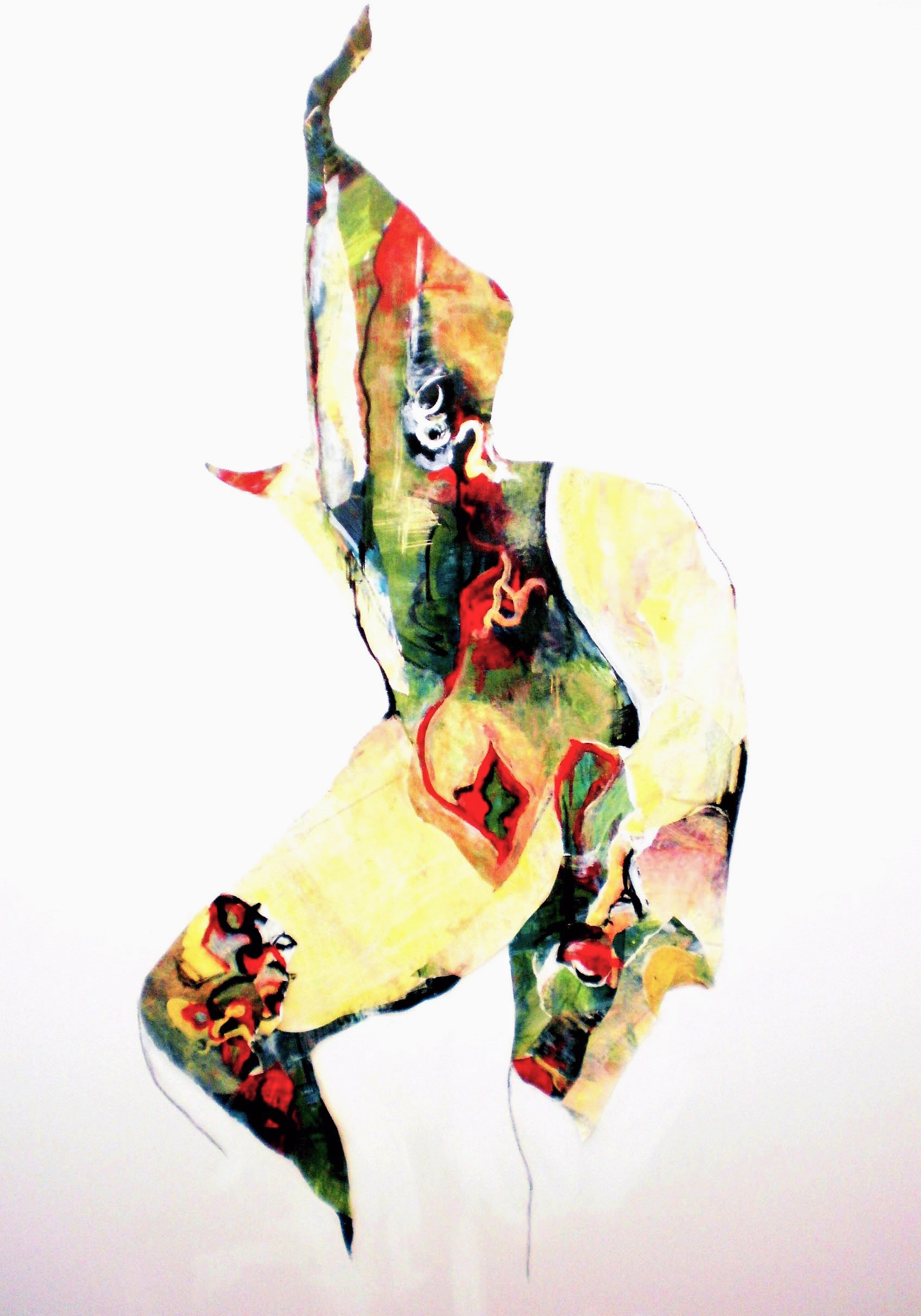Colette Standish Surreal Abstracted Figure 2 - Acrylic collage on Canvas 48in-60in 2014-15.jpg