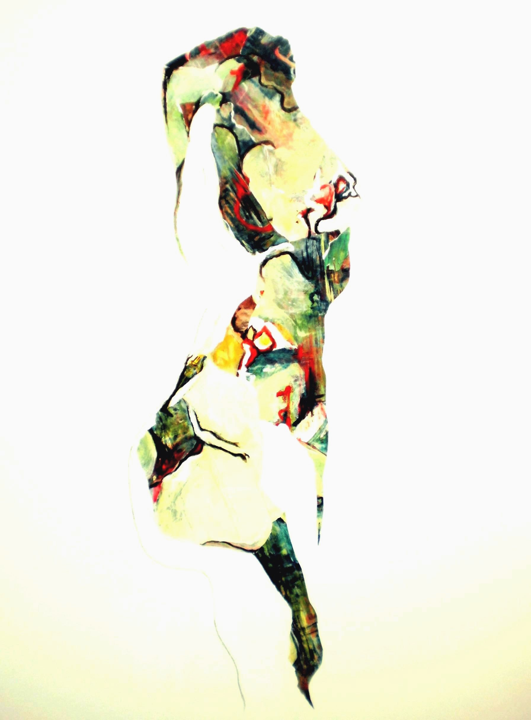 Colette Standish Surreal Abstracted Figure 3- Acrylic Collage on Canvas 48in-60in 2014-15.jpg