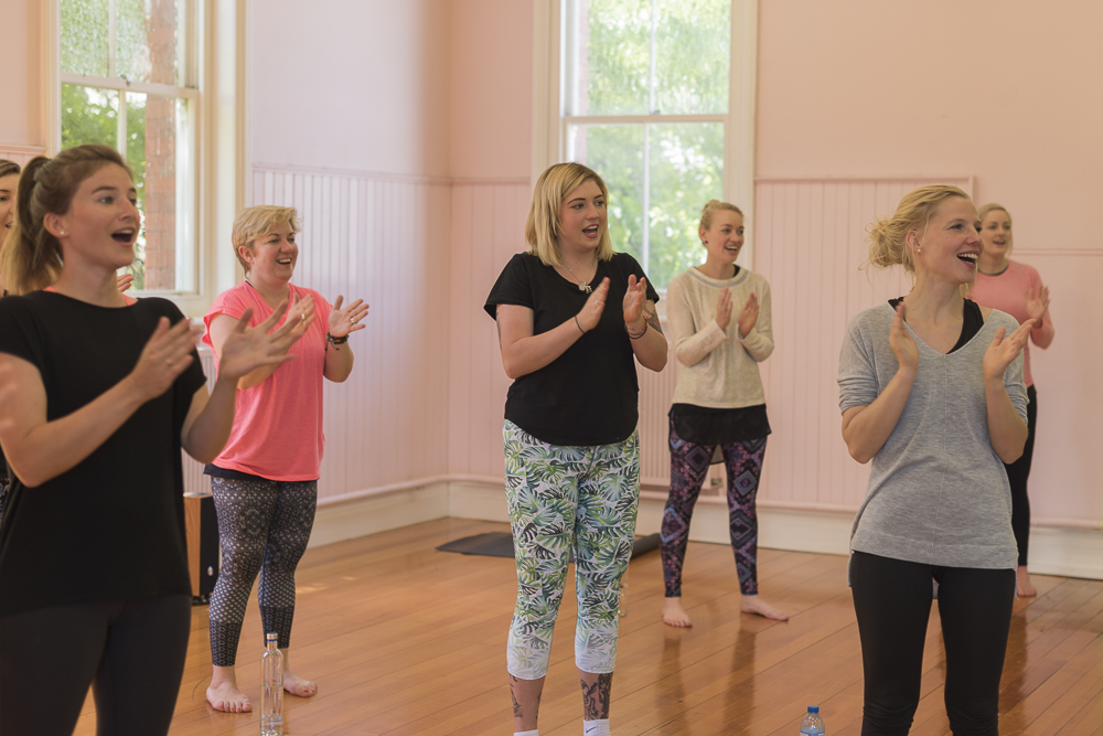 Let the laughing yoga begin!