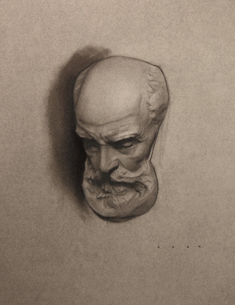 """st. jerome cast study""  charcoal"