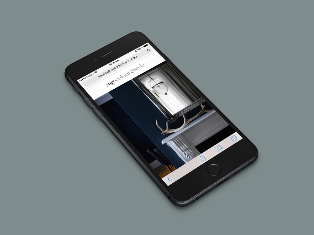 Mobile responsive website display