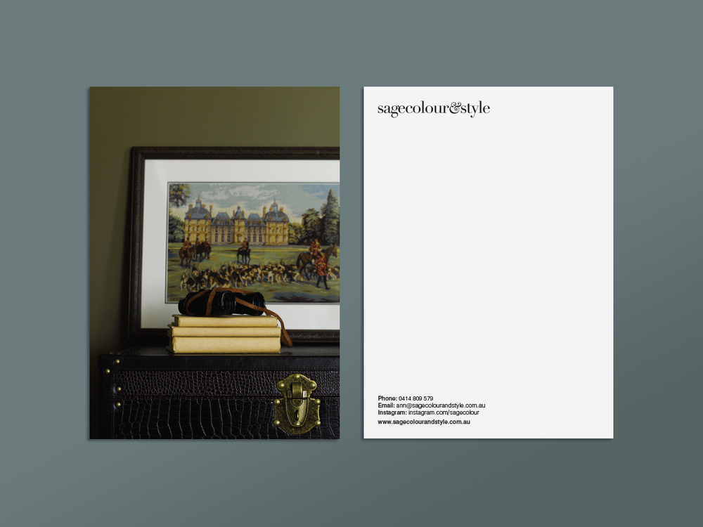 Promotional postcards featuring the highlight projects