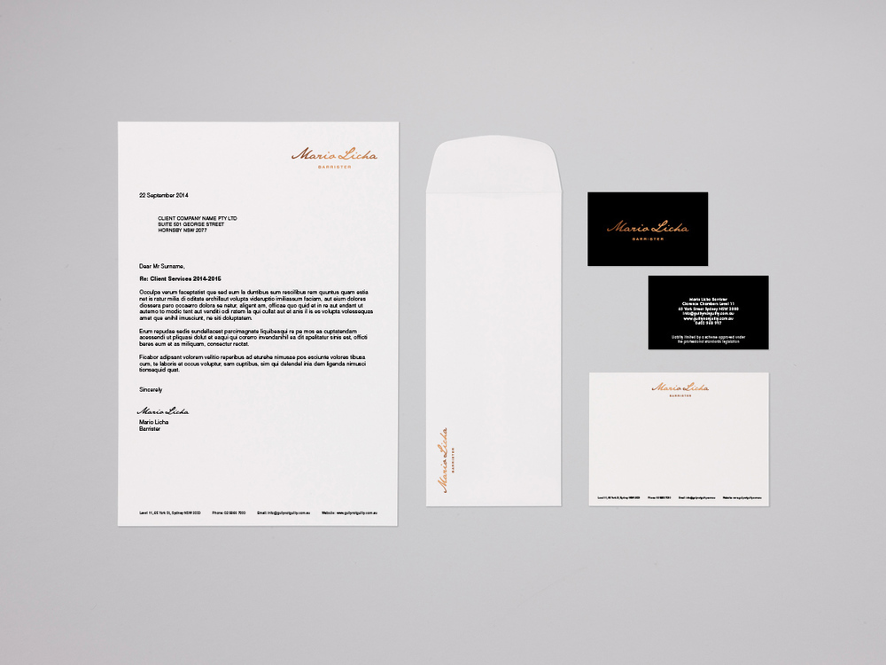 Business stationery design with premium printing