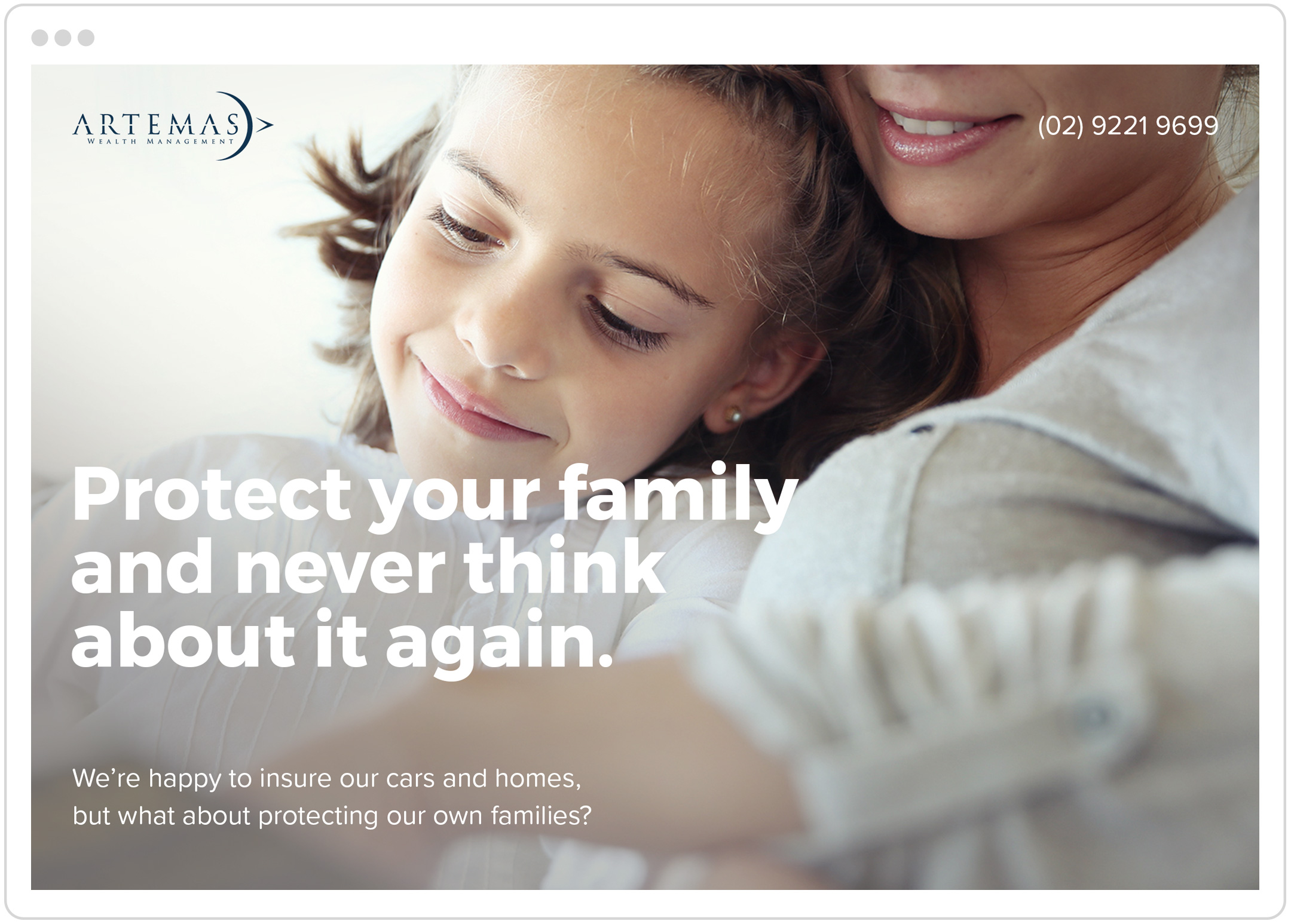 'Life Insurance' messaging for Adwords Campaign.
