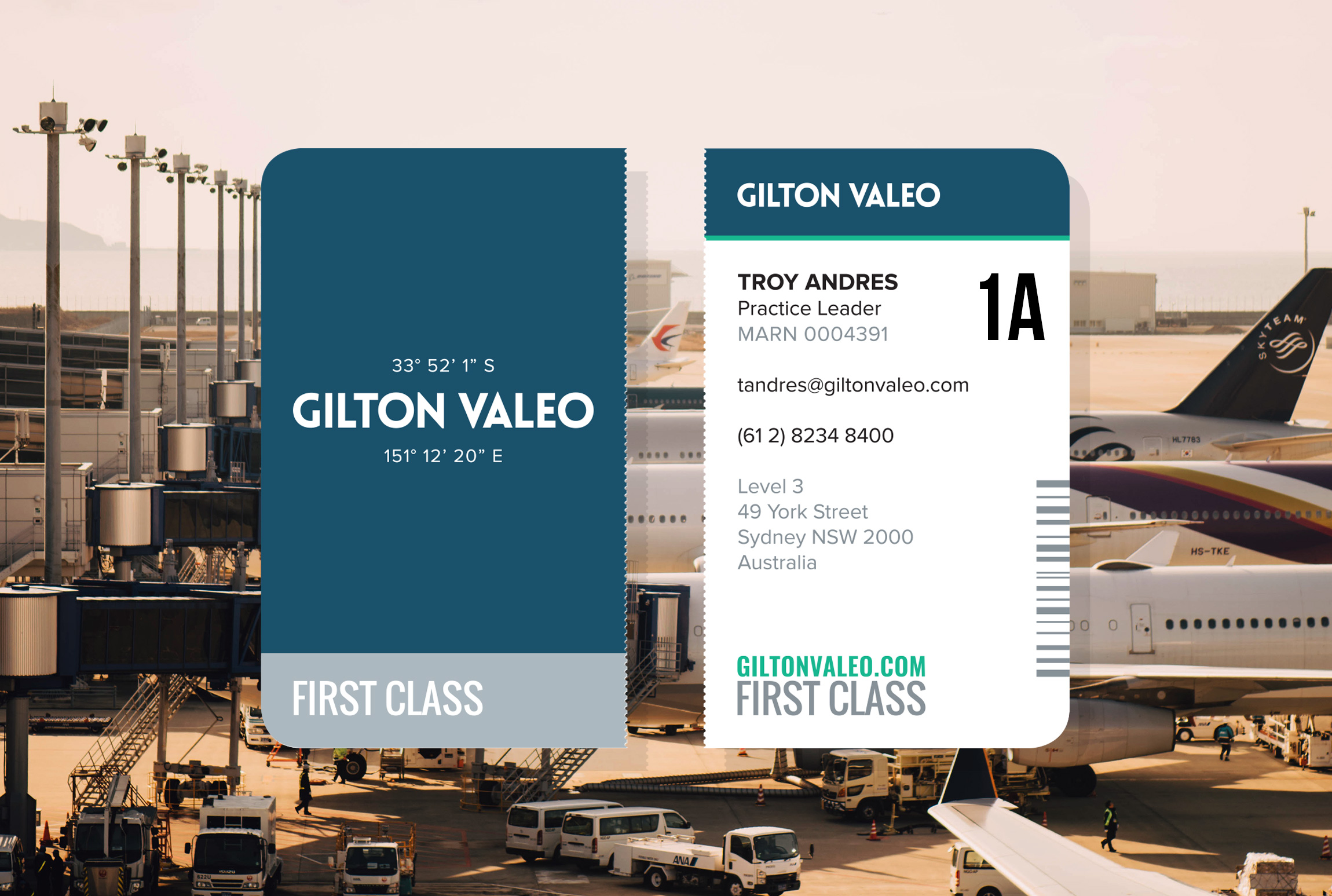 Gilton Valeo Immigration Law Firm - Brand Development & Business Card Collateral