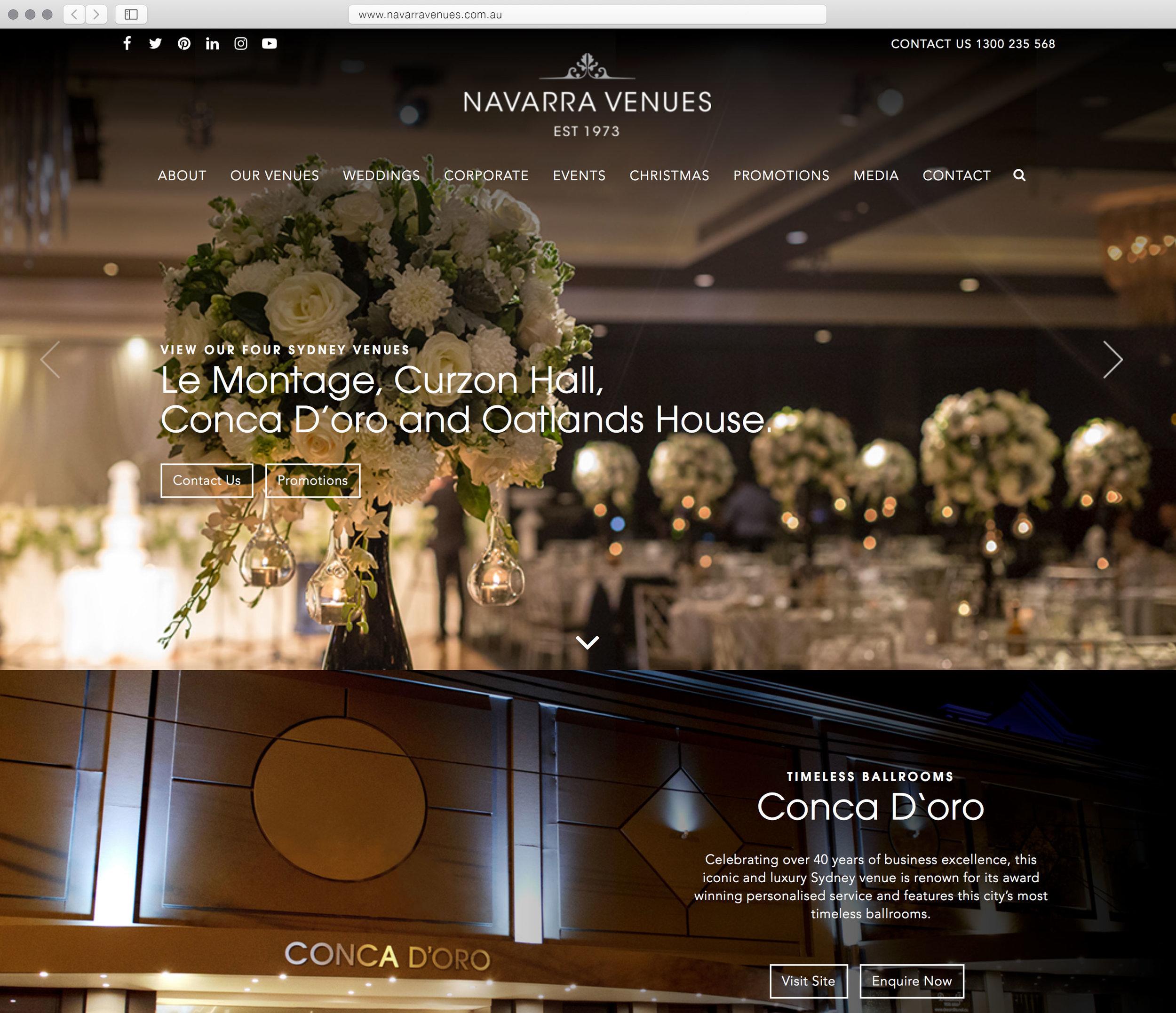 Navarra Venue's previous website…