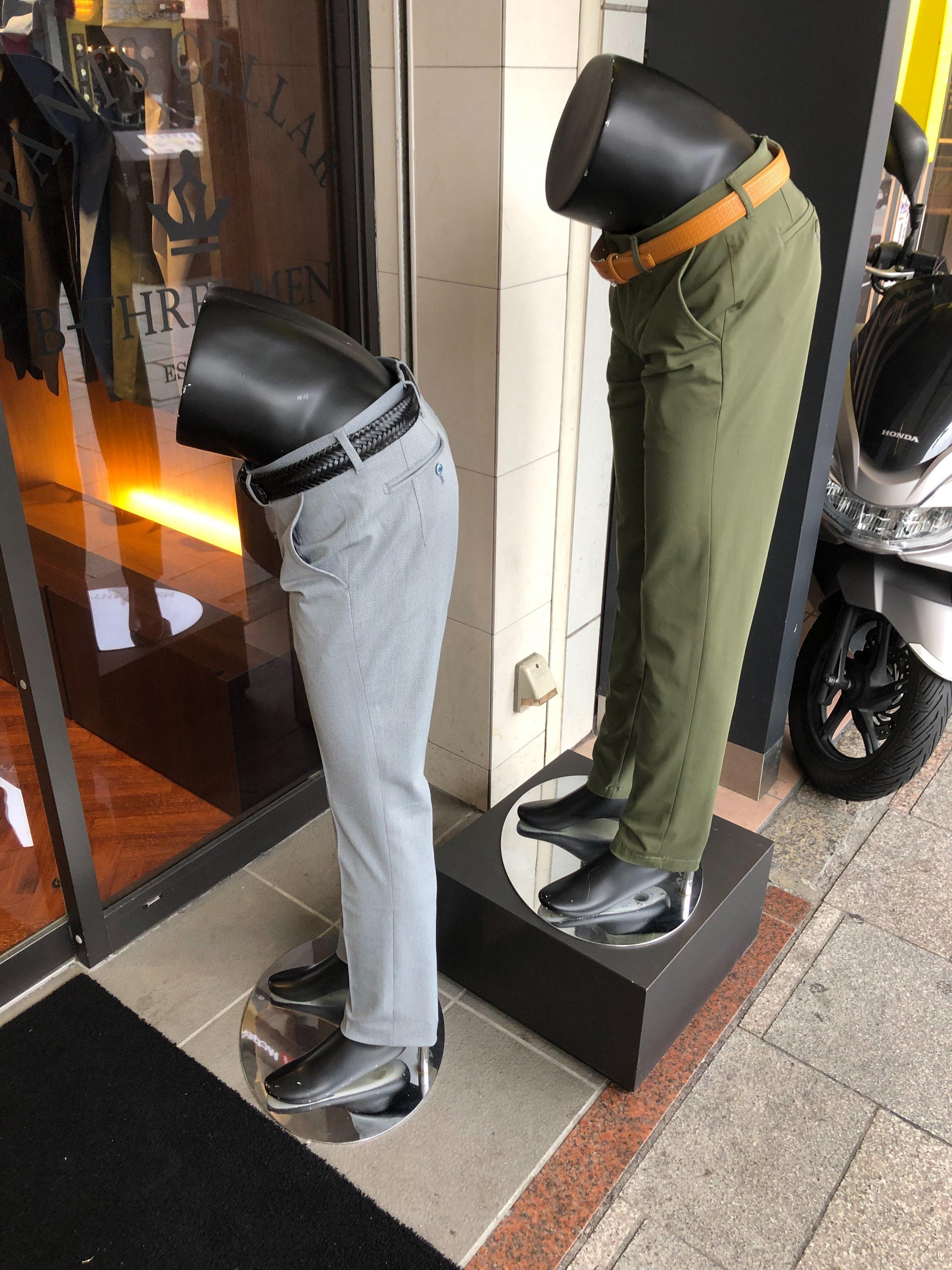 Pants store mannequins, Kyoto.