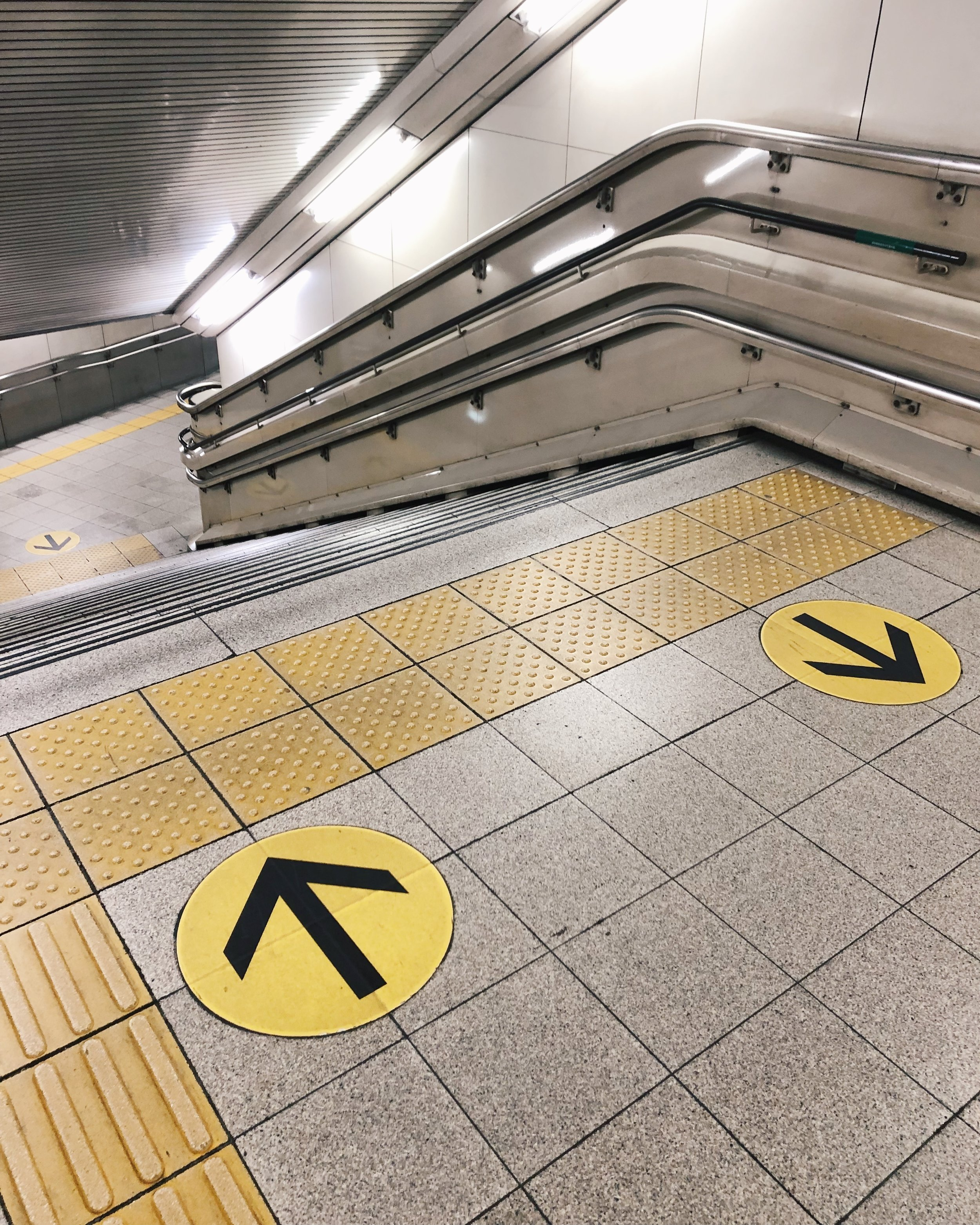 Textures of the Tokyo Metro.