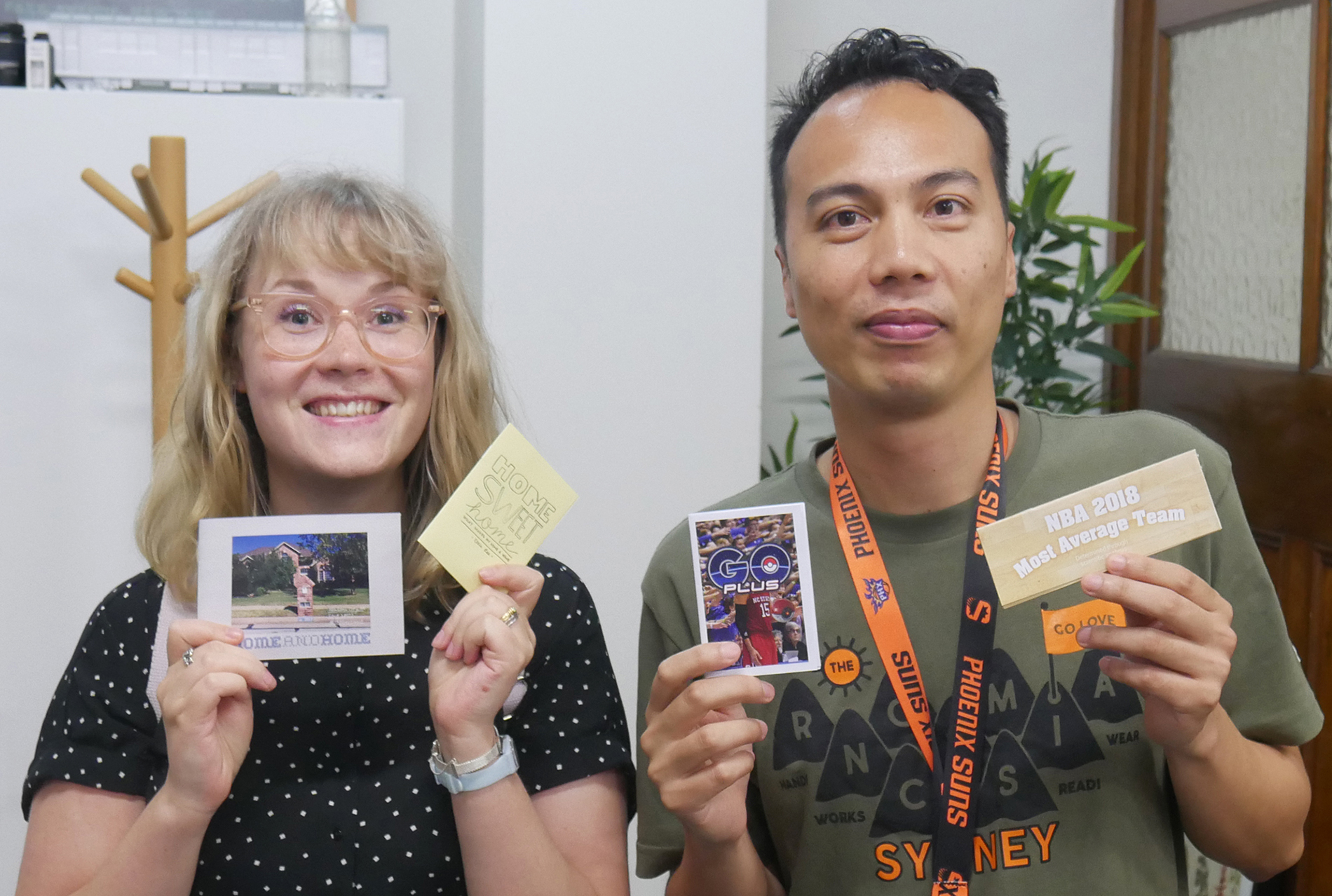 Ellie (@ellielilee) and Lorenzo (@30homegames) with their first zines