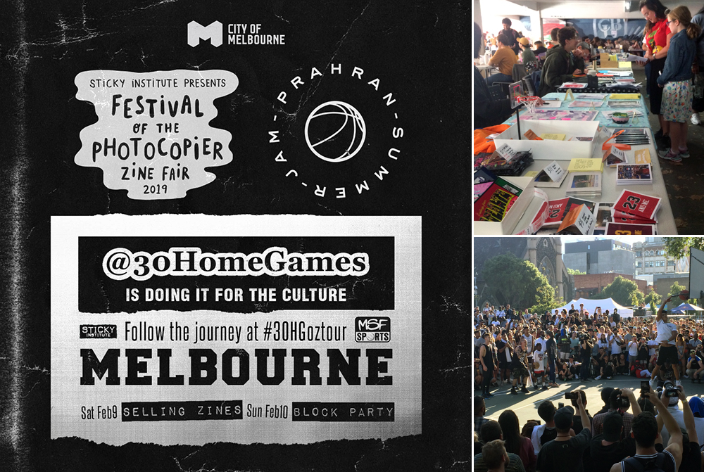 Off to Melbourne to table at our first zine fair, 'Festival of the Photocopier' (Feb 2019)
