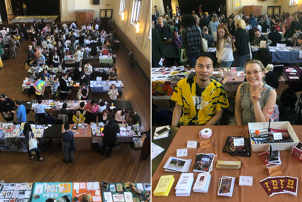 Presenting at Sydney's 'Other Worlds Zine Fair' (March 2019)