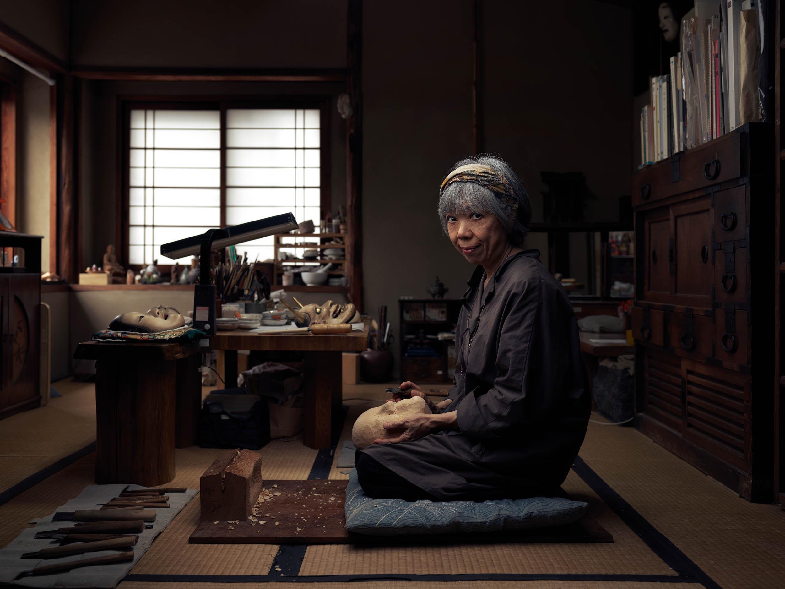 Mitsue Nakamura - Noh Mask Maker