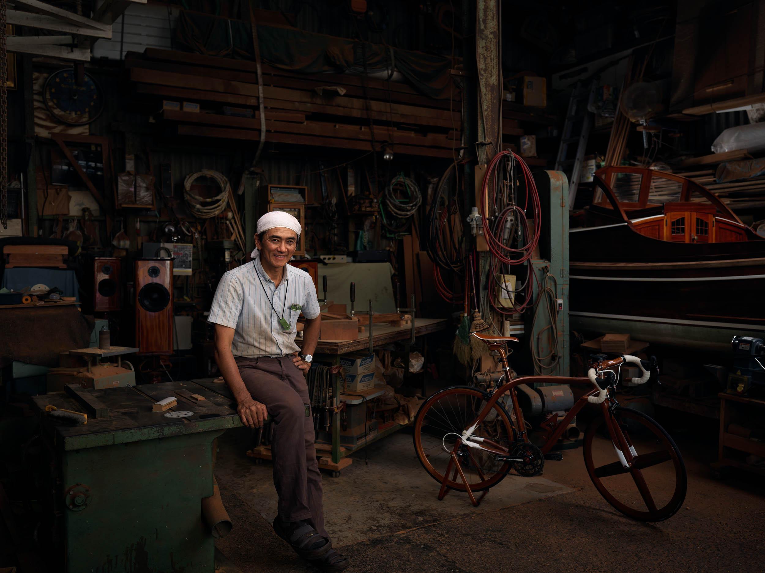 Sueshiro Sano - Wood Bike Maker