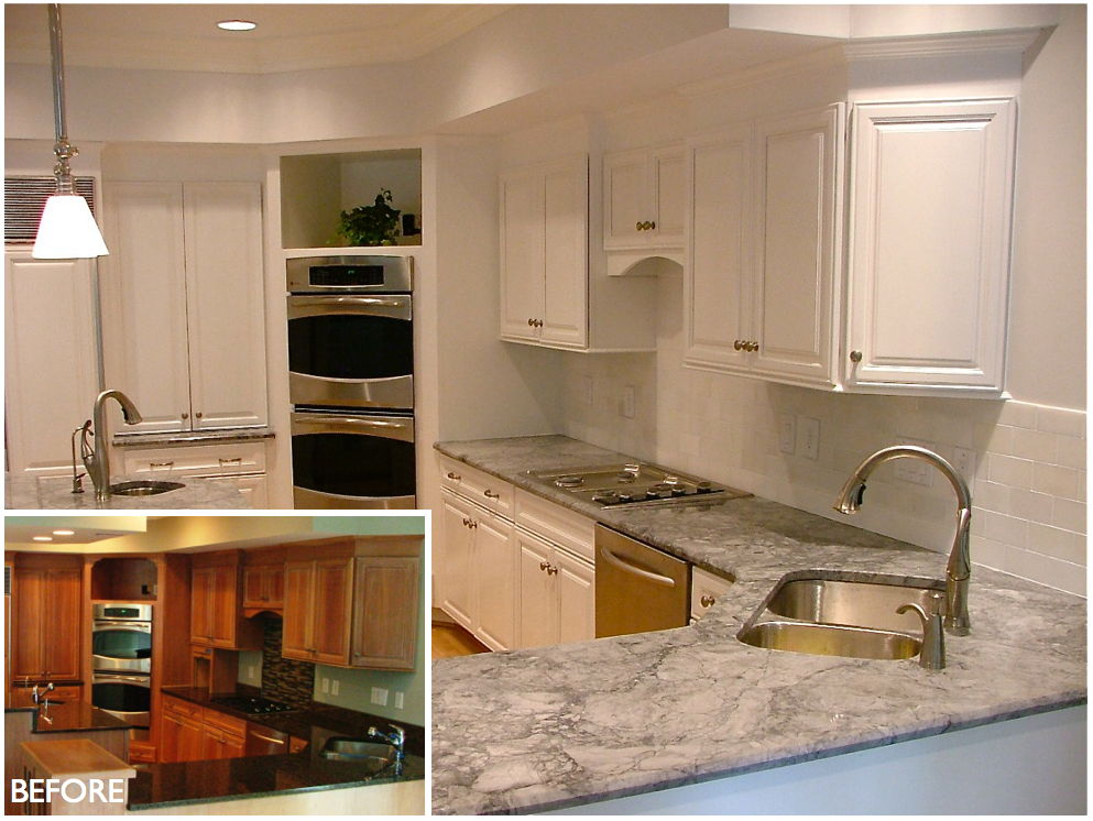 Pearl White Kitchen Refinish