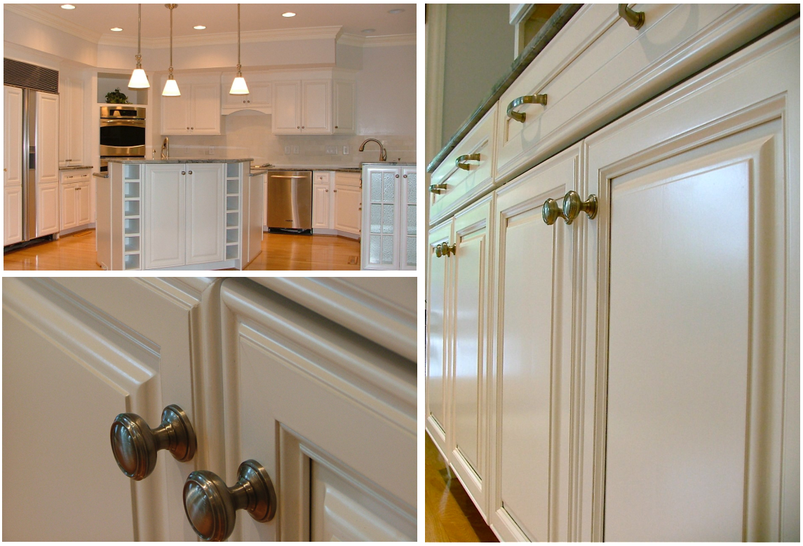 Pearl White Kitchen Refinish Details