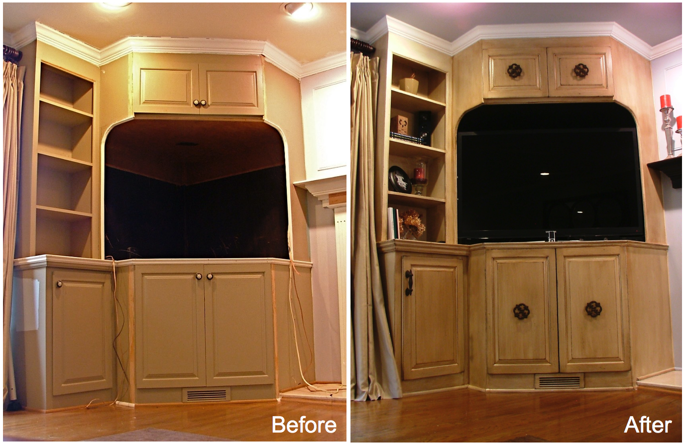 Refinished Built in cabinet