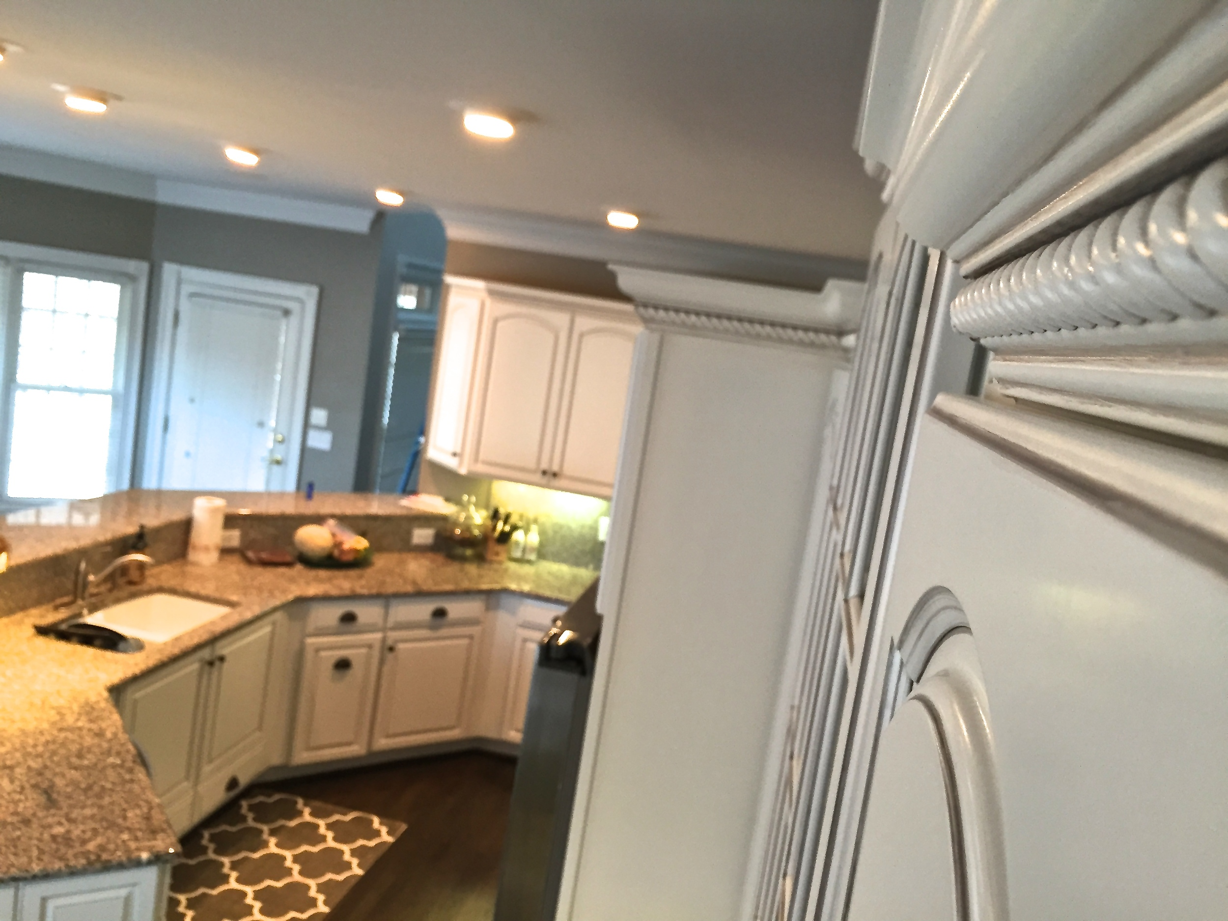 Cream White Kitchen Refinish