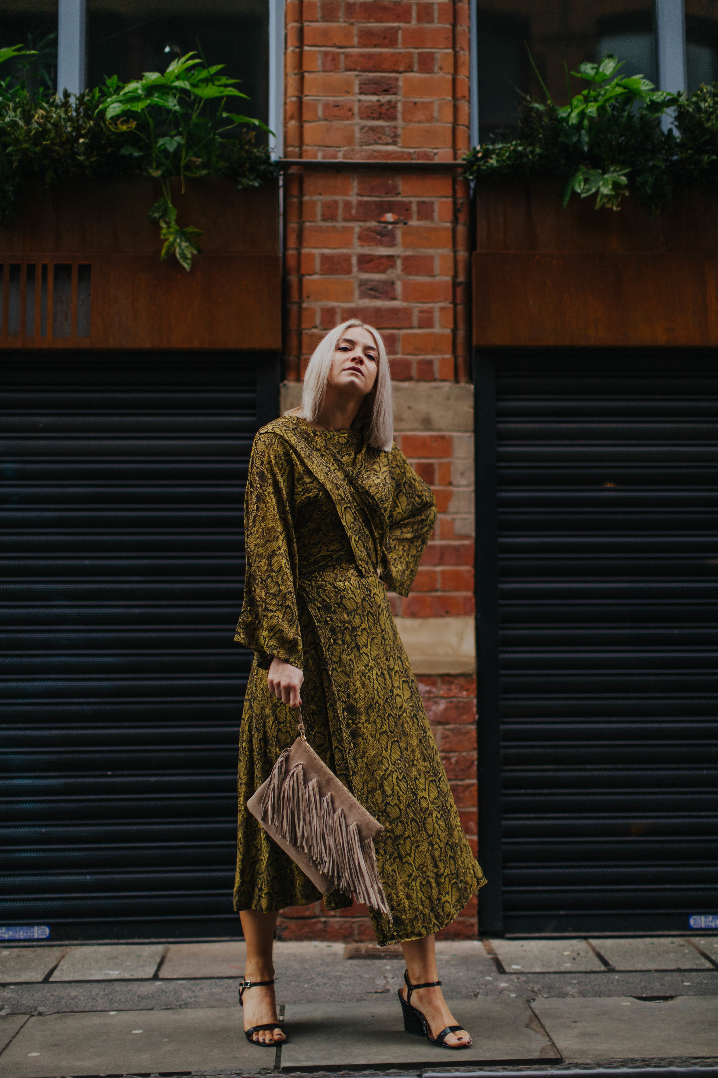 snake print wedding guest look, in the northern quarter manchester, for the summer 5
