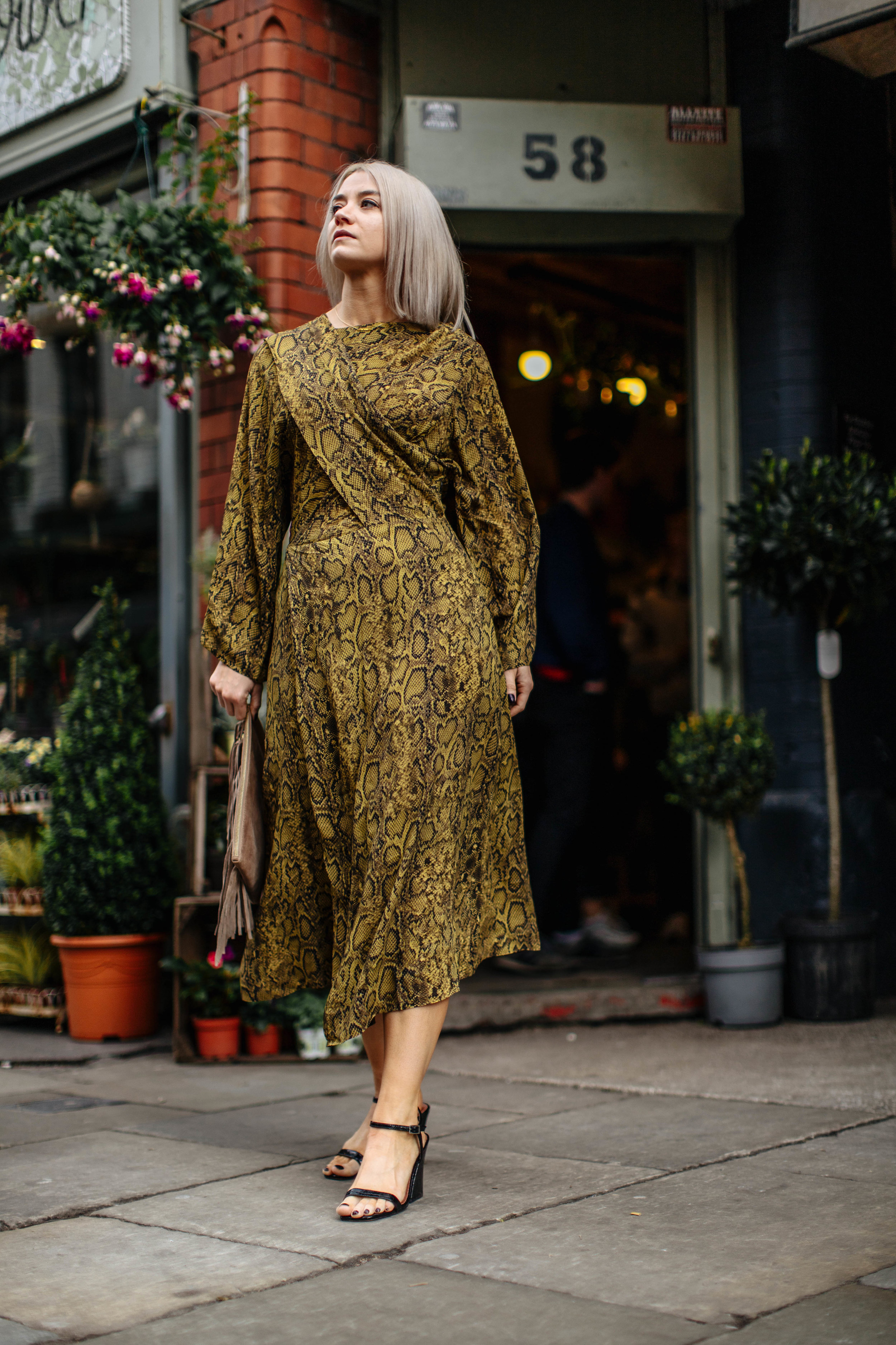snake print wedding guest look, in the northern quarter manchester, for the summer 6
